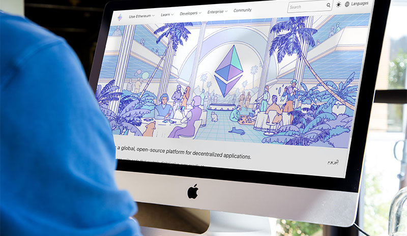 Webseite der Ethereum Foundation