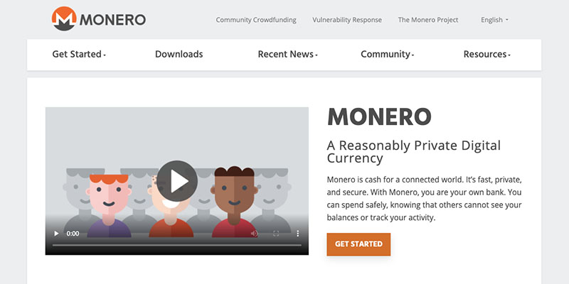 Website von Monero